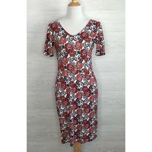 Down East Floral V-neck Dress Size Large